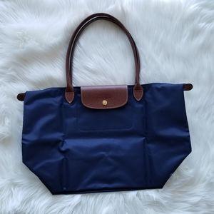 NEW Longchamp Le Pliage Shoulder Bag Blue